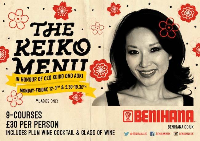 Keiko Menu Header